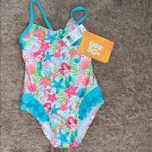 Girls Disney Little Mermaid Swimsuit NWT